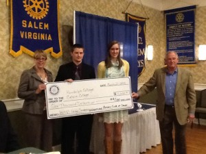 Wooldridge Scholarship Presentation (left to right) Lenora Downing, Colton Hunt, Carissa Verkiak, Dan Wooldridge